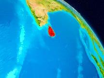 Sri Lanka på jord Royaltyfri Foto