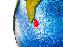 Sri Lanka på jord 3D vektor illustrationer