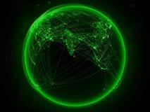 Sri Lanka på jord med nätverket vektor illustrationer