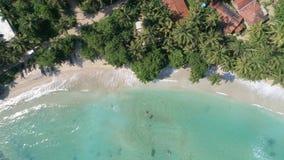 Sri Lanka Paradise Beach Slowmotion Aerial 4. Aerial footage of a beautiful beach in Sri Lanka. Slowmotion footage in 4k stock video