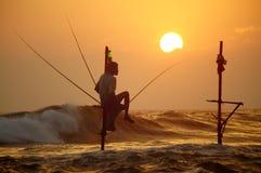 Sri Lanka, południowe wybrzeże - Styczeń 06; 2011: tradycyjny sri lanka Zdjęcie Royalty Free