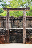 Sri Lanka, Polonnaruva. Ruins of an ancient temple. The stone en Stock Image