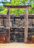 Sri Lanka, Polonnaruva. Ruins of an ancient temple. The stone en Royalty Free Stock Image