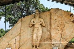 Sri lanka Polonnaruwa Maha Parakkramabahu Statue royalty free stock images
