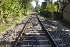 Sri Lanka railway lines and Auto rickshaw Stock Photography