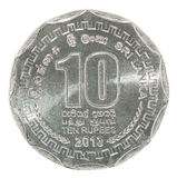 Sri Lanka-Rupienmünze Stockbild