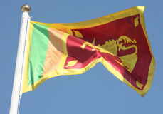Sri Lanka's flag Stock Photography