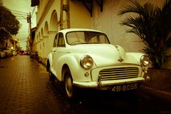 Sri Lanka`s old automobiles in Galle stock photography