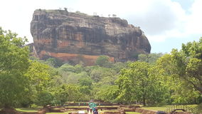 Sri Lanka. Sigiriya Lion Rock Front View Stock Photography