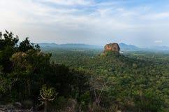 Sri Lanka. Sigiriya Rock Fortress. Located in beautful Sri Lanka landscape is the most popular tourist attraction in Sri Lanka Stock Photos