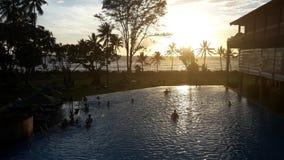 Sri Lanka solnedgång arkivfoton