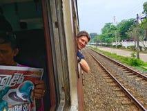 Sri Lanka-spoorweg Royalty-vrije Stock Foto