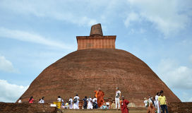 Sri Lanka stupa. ,the holy land in Sri Lanka royalty free stock images