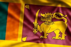 Sri Lanka. Stylish waving and closeup flag illustration. Perfect for background or texture purposes vector illustration
