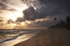 Sri Lanka: Sunset in Hikkaduwa Royalty Free Stock Photography