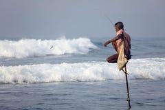 Sri Lanka sydkust - Januari 05; 2011: traditionella Sri Lanka Arkivfoton