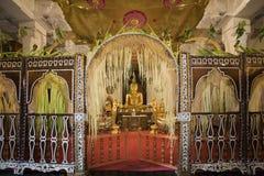 Sri Lanka - Temple of the Tooth. Interior of Temple of the Tooth Buddhist Temple in Kandy in Sri Lanka (Dalada Maligawa Royalty Free Stock Images