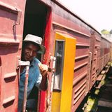 Sri lanka old train. Sri Lanka to exercise the old train The people who work on the train stock images