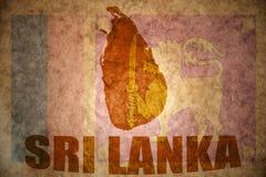 Sri lanka vintage map Royalty Free Stock Photos