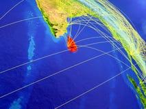 Sri Lanka vom Raum mit Netz stock abbildung