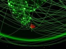 Sri Lanka vom Raum mit Netz vektor abbildung