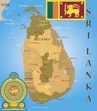 Sri- Lankakarte. Stockfotografie