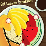 Sri Lankan breakfast Royalty Free Stock Image