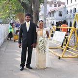 Sri Lankan bride and groom Stock Photos