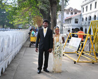 Sri Lankan bride and groom Royalty Free Stock Image