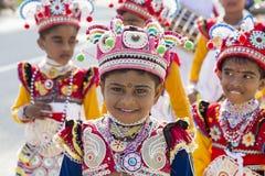 Sri Lankan children  in the Katina festival.. Close up Royalty Free Stock Image