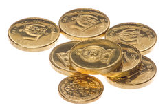 Sri Lankan Coins Macro Isolated Royalty Free Stock Photos