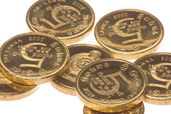 Sri Lankan Coins Macro Isolated Stock Photos