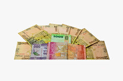 Sri Lankan Currency Rupee Notes Royalty Free Stock Photography
