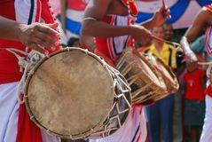 Sri Lankan drummers in Wesak festival Stock Photography