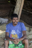 Sri Lankan fisherman Stock Photography