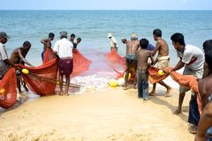 Sri Lankan fishermans Stock Photography