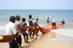 Sri Lankan fishermans Royalty Free Stock Photos