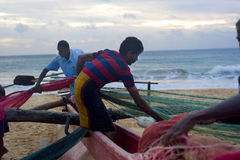 Sri Lankan fishermen Royalty Free Stock Image