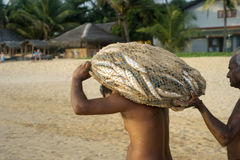 Sri Lankan fishermen Royalty Free Stock Images