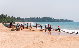Sri lankan fishermen Stock Images