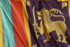 Sri Lankan flag Stock Photography