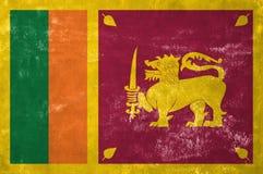 Sri Lankan Flag. Sri Lanka - Sri Lankan Flag on Old Grunge Texture Background stock photos