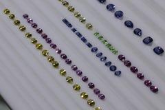 Sri Lankan gem - Calibrated Sapphire Display royalty free stock photo