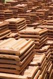 Sri Lankan Handmade Roof Tiles Stock Images