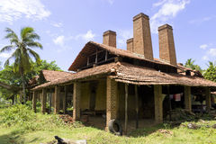 Sri Lankan Handmade Roof Tiles Kiln Royalty Free Stock Image