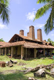 Sri Lankan Handmade Roof Tiles Kiln Royalty Free Stock Image