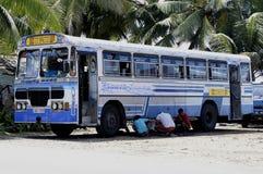 Sri Lankan Kleurrijk Leyland Busses Royalty-vrije Stock Afbeelding