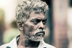 Sri Lankan man style. Tough expression Royalty Free Stock Images