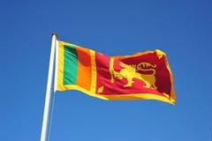 Sri Lankan Markierungsfahne Lizenzfreie Stockbilder