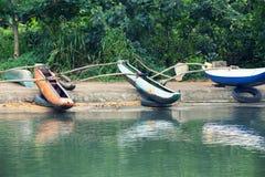 Sri Lankan native boats Stock Image